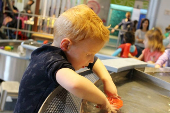 Exploring water table at Telus Spark Science Centre