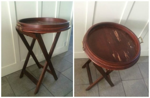 Tray Table Transformation before