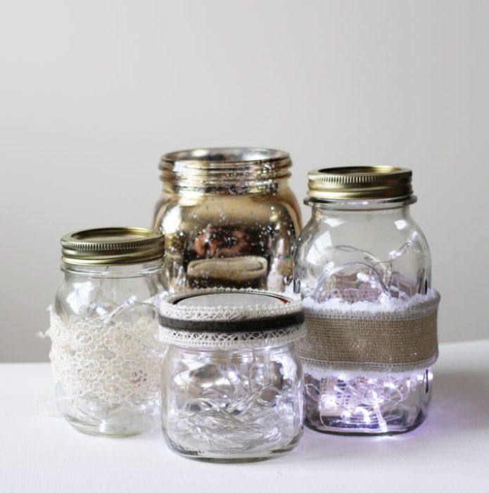 mason jar with fairy lights