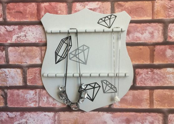 Thrifted DIY Jewelry Holder from Brooklyn Berry Designs