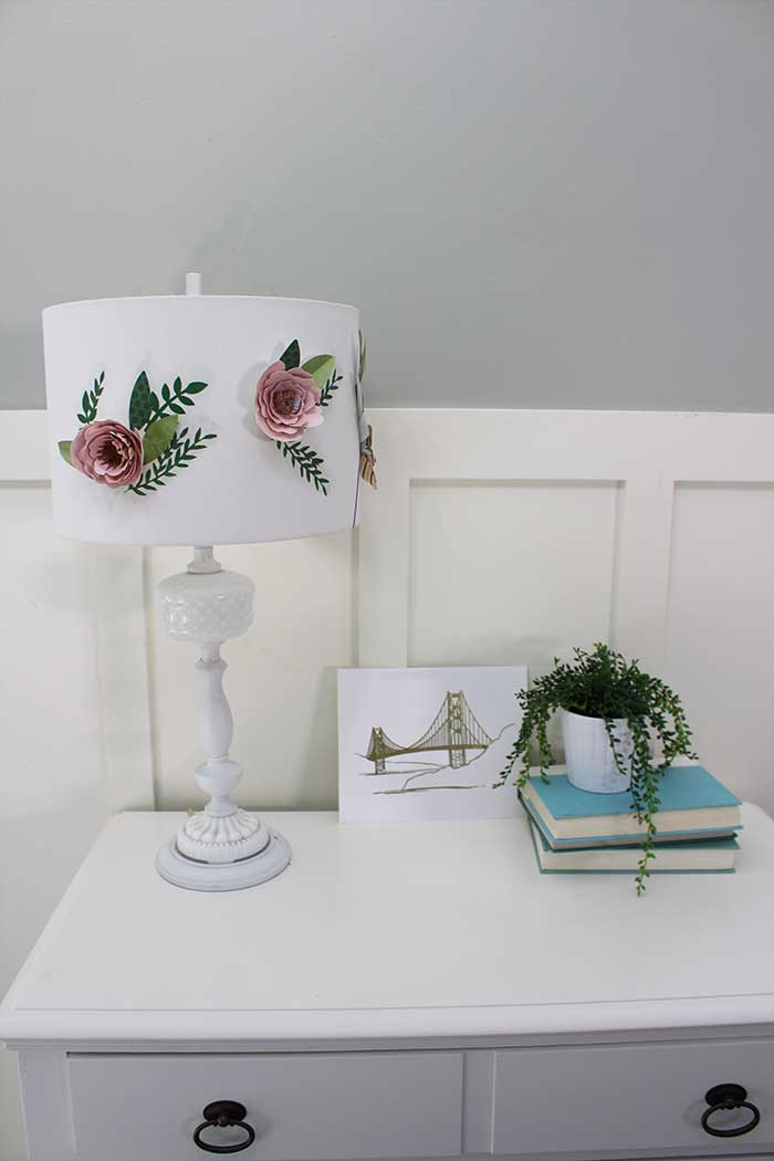 DIY Paper flower lamp shade