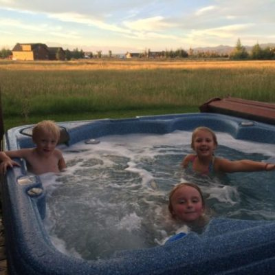 Family Visit in Driggs Idaho