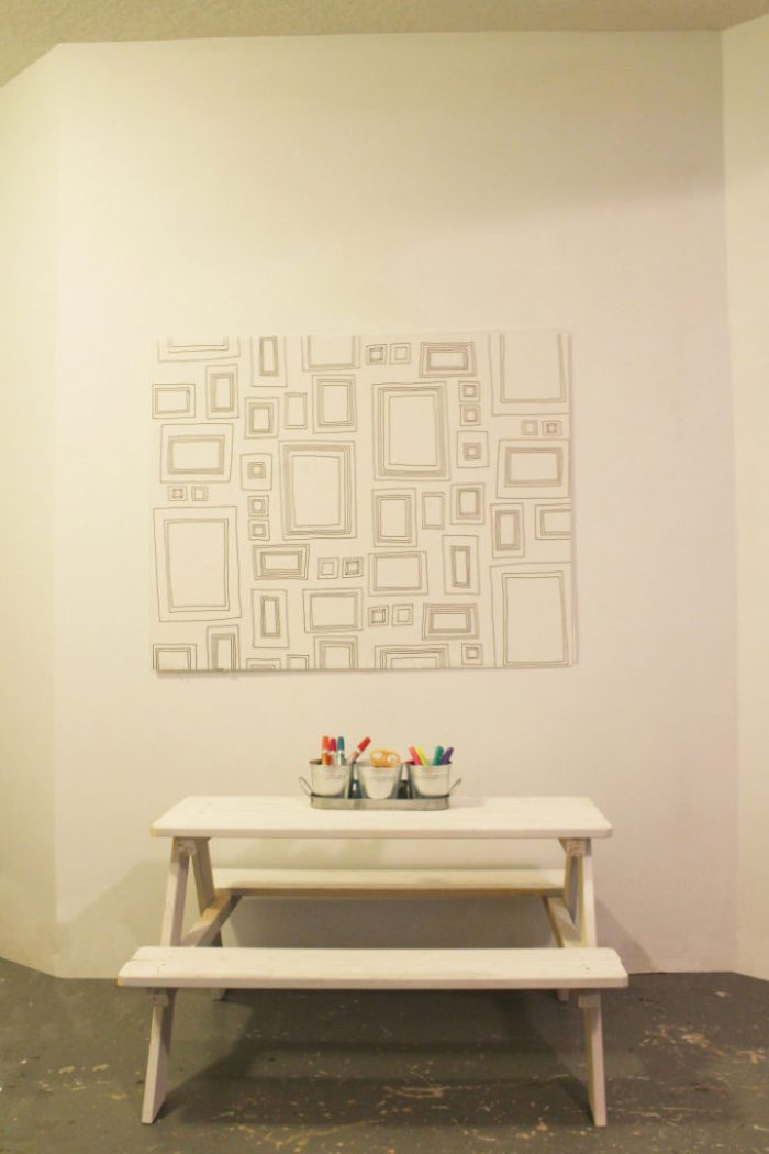 Dry Erase Art wall - Color your walls, erase and repeat.