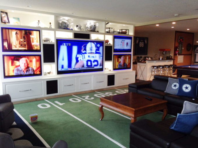 Man Cave Furniture Calgary : The ultimate game room dallas cowboys style brooklyn