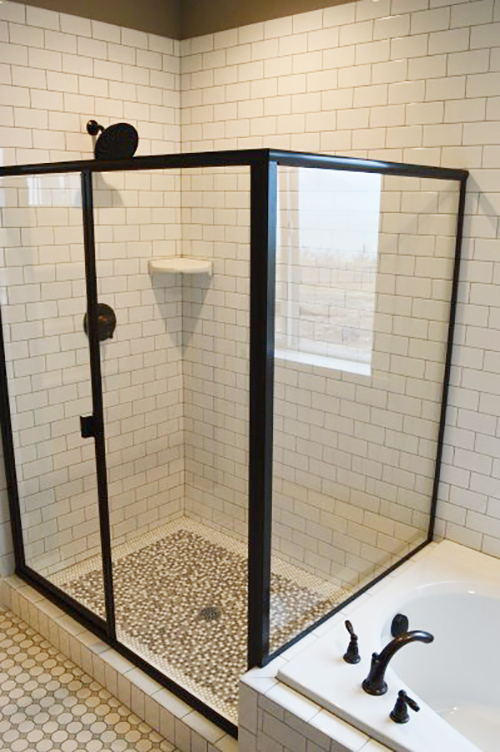 black-shower-frame
