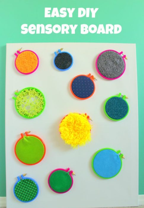 DIY Sensory Wall for kids