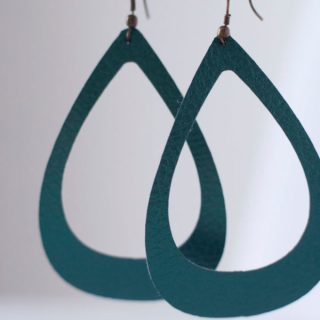 DIY Faux Leather Earrings