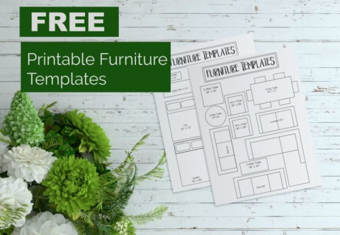 Free Printable Room Planner Brooklyn, Interior Design Furniture Templates 1 4 Scale