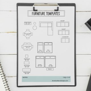 furniture template and graph paper