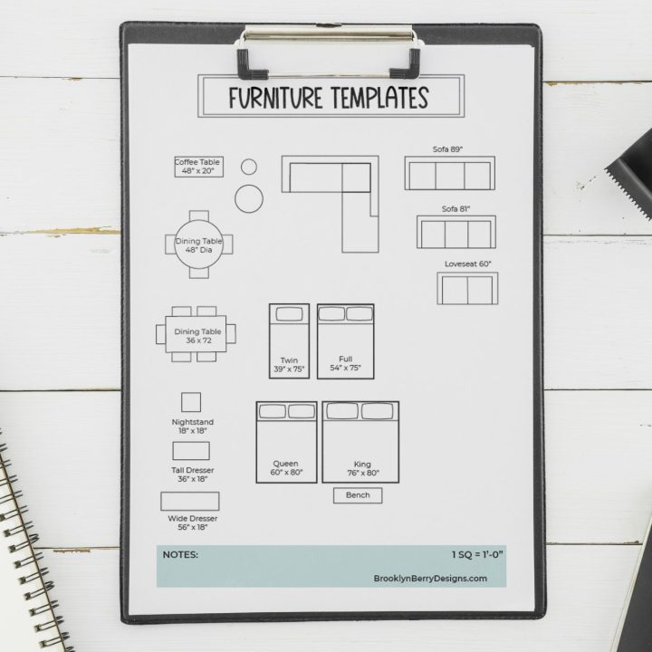 Free Printable Room Planner Brooklyn, Interior Design Furniture Templates Printable