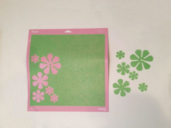 Cutting felt on the Cricut Maker with the rotary blade and fabric cutting mat.