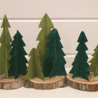 Mini Felt Trees With Cricut