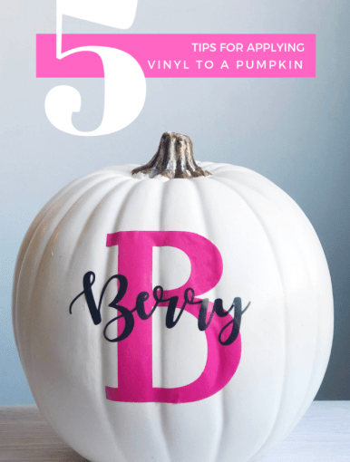 DIY your own vinyl monogram pumpkin. Great for real or plastic pumpkins, here are the tricks to make it flawless the first time.