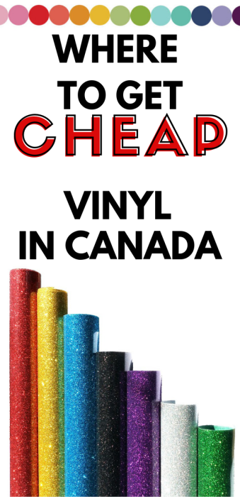 Where to buy cheap vinyl in Canada.