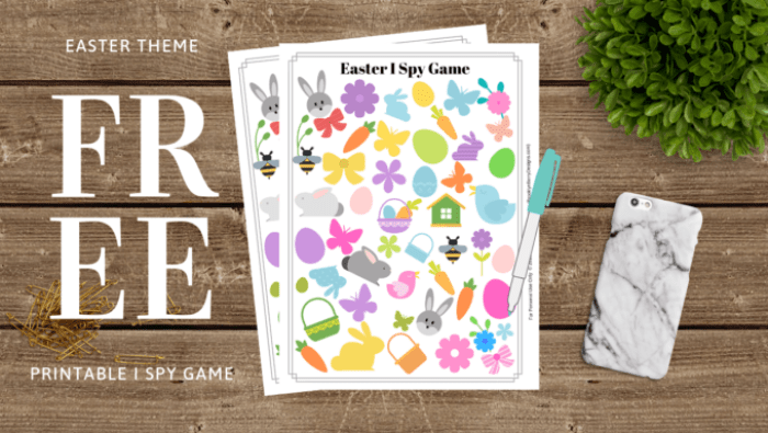 Easter I Spy Printable, free printable activity pages.