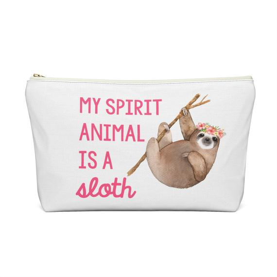 My Spirit Animal Is A Sloth Zippered Pouch