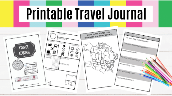 image regarding Travel Journal Printable identify Printable Drive Magazine For Little ones - Brooklyn Berry Plans