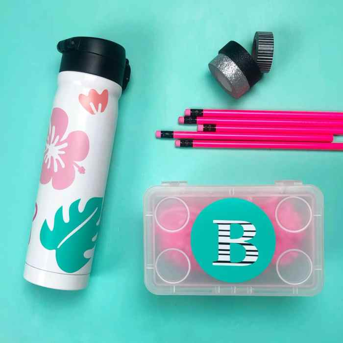 How to personalize school supplies with Cricut
