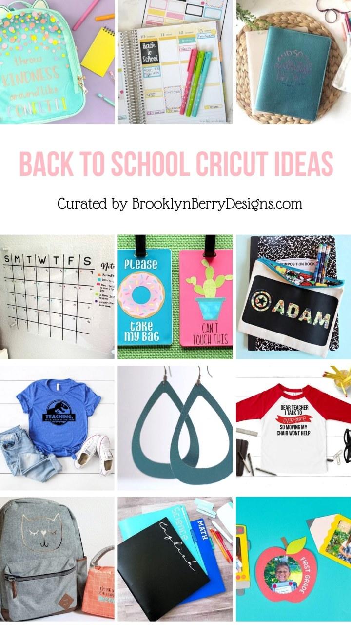 12+ Back To School Cricut Ideas via @brookeberry