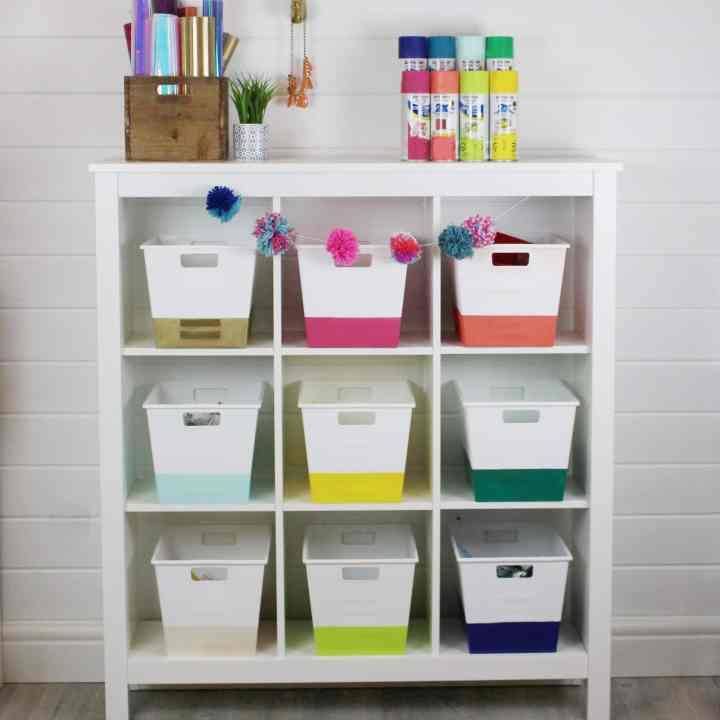How To Spray Paint Storage Bins