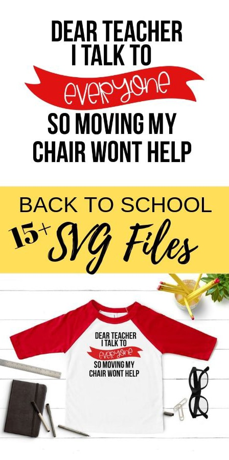Get your family back to school ready with 16 free back to school svg files. Custom T-shirts or school gear, use these cut files to make it all. via @brookeberry