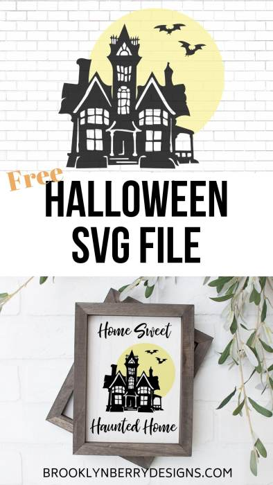 Free Haunted Home Svg Brooklyn Berry Designs
