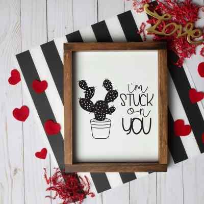 Free Valentines SVG Stuck On You