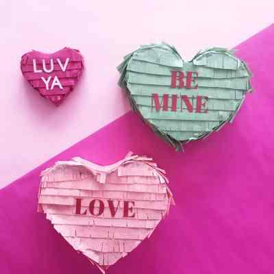 Conversation Heart Pinata – Easy Valentines Craft
