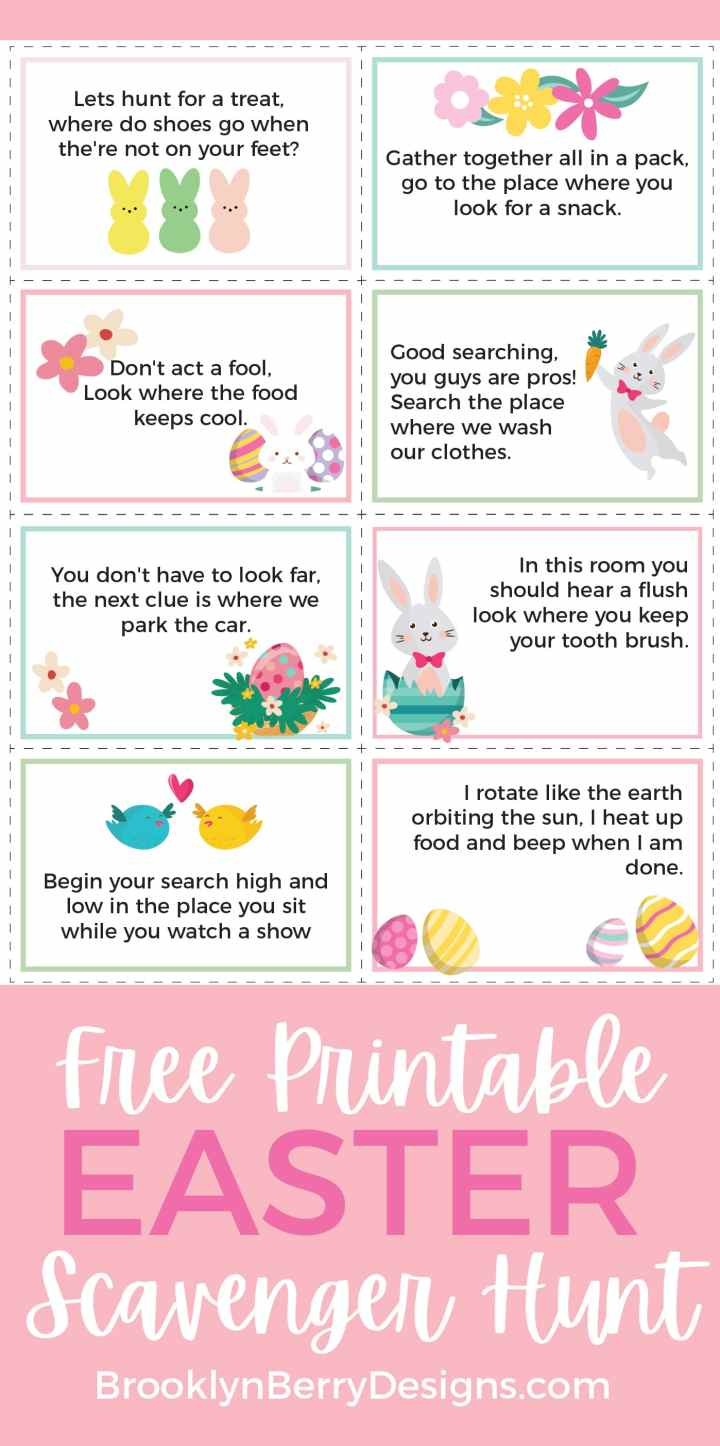 Printable Easter Basket hunt via @brookeberry