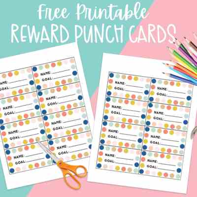 Printable Reward Punch Card