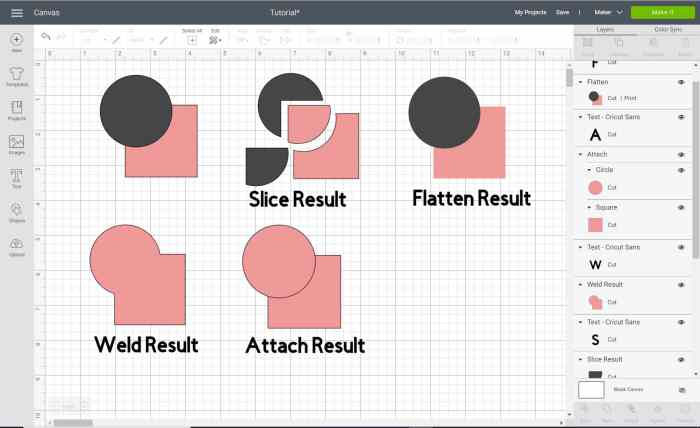 Learn how to customize with Cricut Design Space tools. How to use the slice, weld, flatten, contour, attach tools.