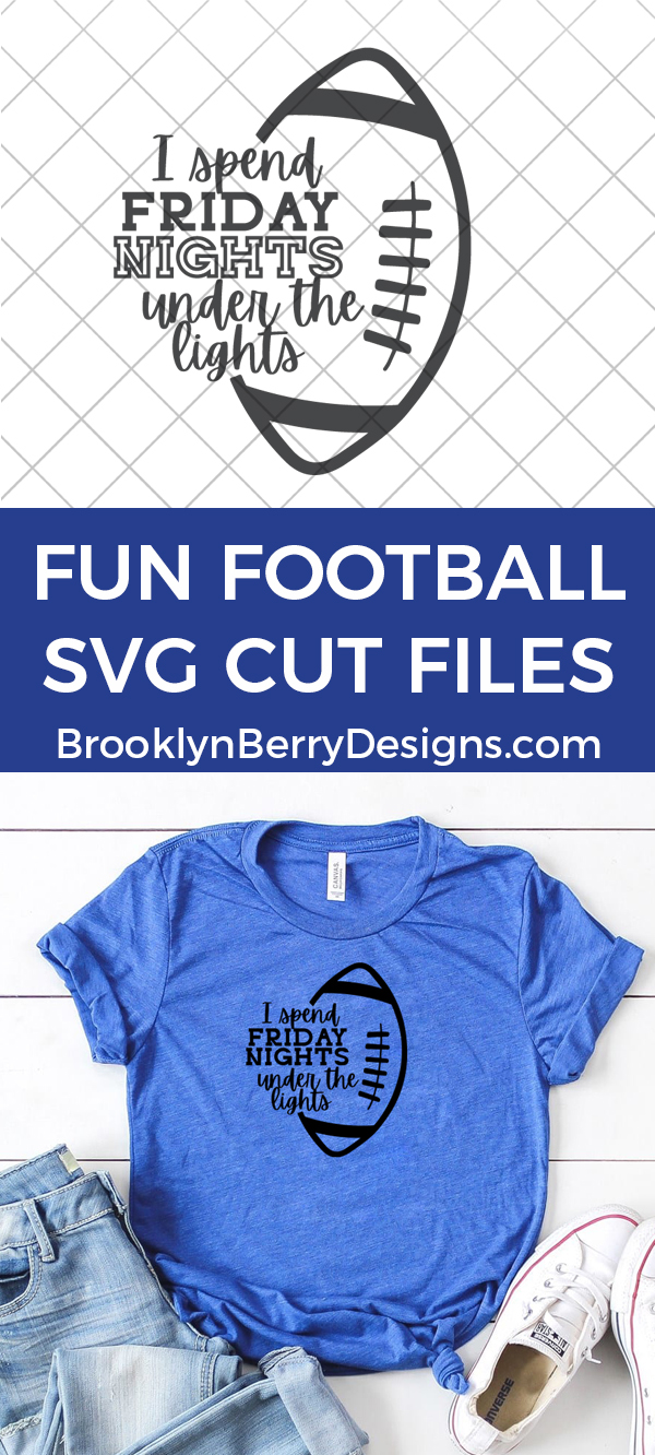 Free football svg cut files - I spend friday nights under the lights shirt design perfect for those fall friday nights in the stadium. via @brookeberry