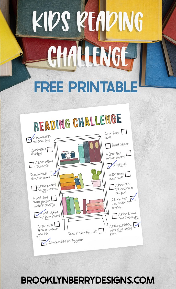 Encourage kids to read with this fun Reading challenge coloring page. Color as you go and encourage them to read new genres and authors. via @brookeberry