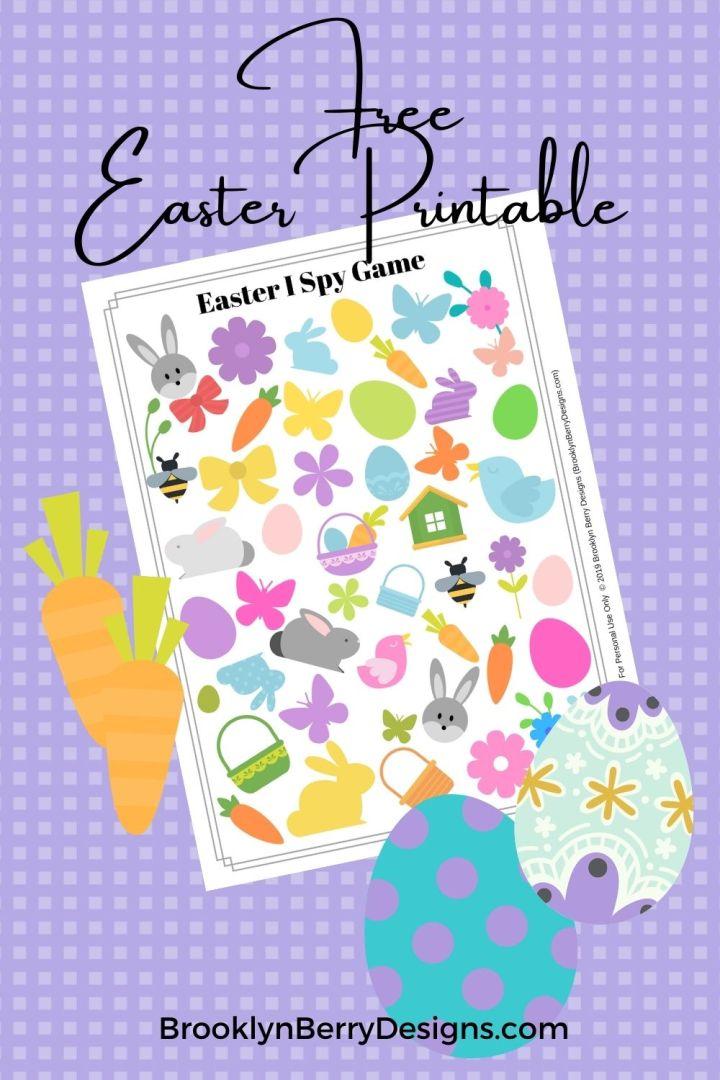 Free Easter I Spy Printable via @brookeberry