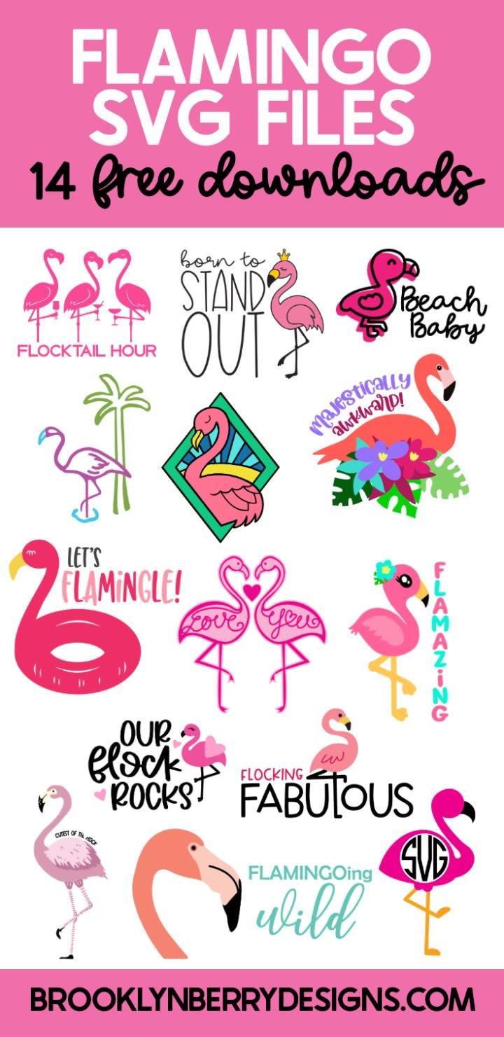 Flamingo SVG Files via @brookeberry