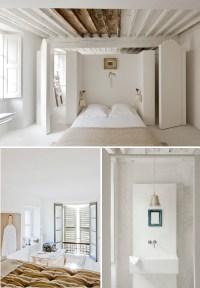 exposed white ceiling beam | Brooklyn Brownstone