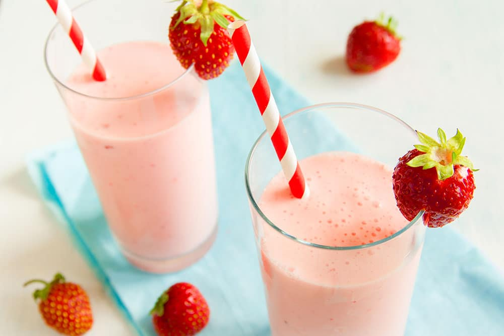 Image result for strawberry smoothie banana