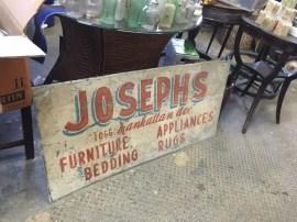 JOSEPHS METAL SIGN
