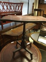 LEATHER TOP TABLE
