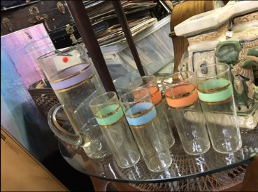 MID CENTURY MODERN GLASS SET
