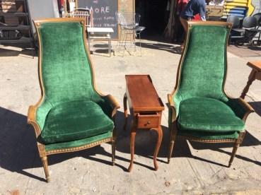 green-chair-set
