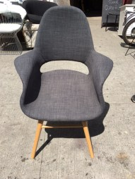 GREY WOOL CHAIR