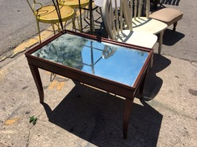 MIRROR TOP COFFEE TABLE