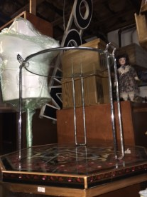 MID CENTURY MODERN GLASS TABLE