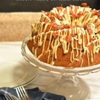 maple bacon bundt cake with bacon pecan streusel swirl #bundtbakers