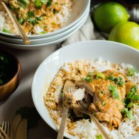 coconut lime braised chicken thighs