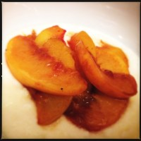 Flambéd Rum Peaches