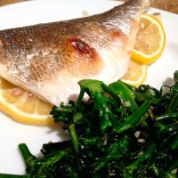 Oven Roasted Bronzino with Lemon