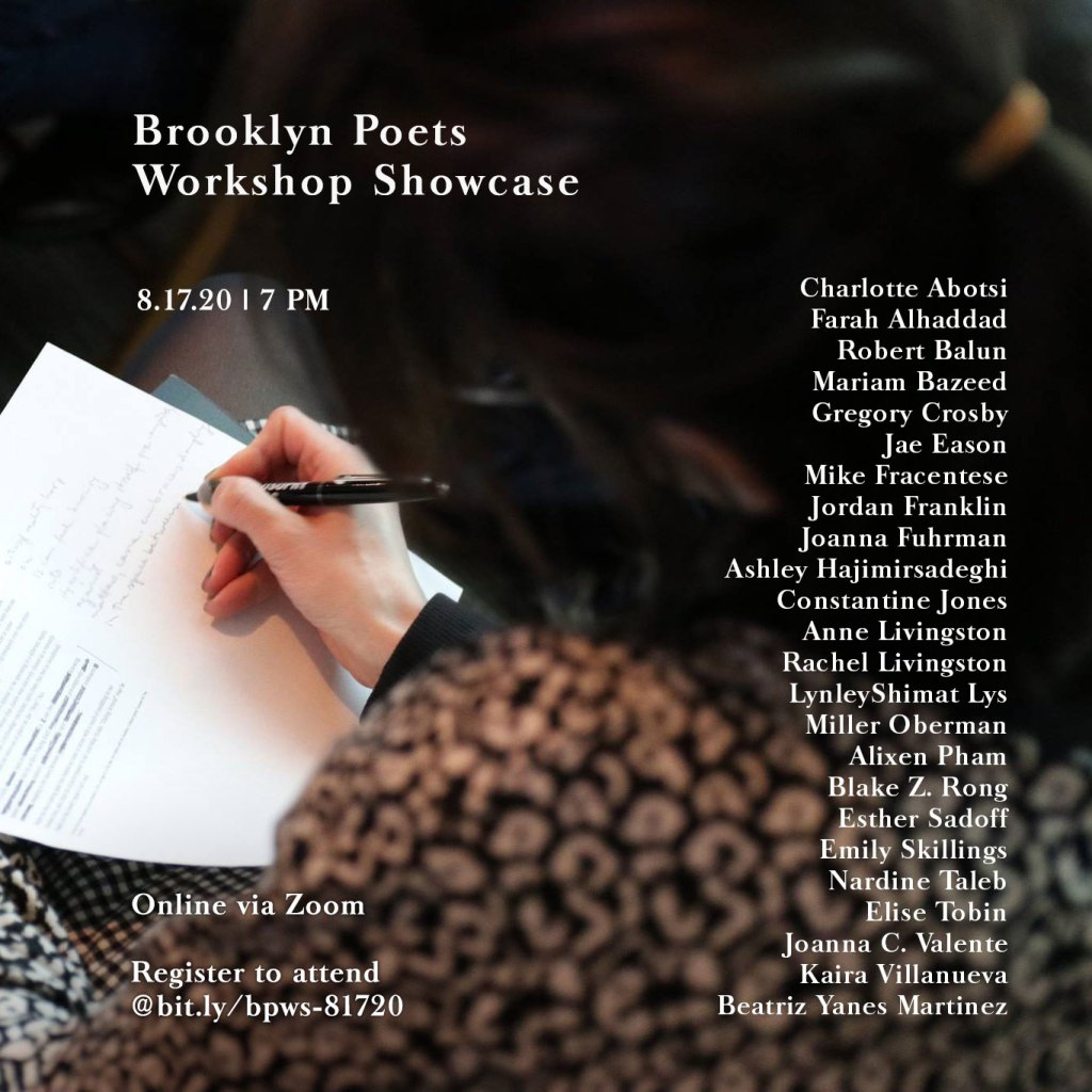 Poster for Workshop Showcase Aug 2020