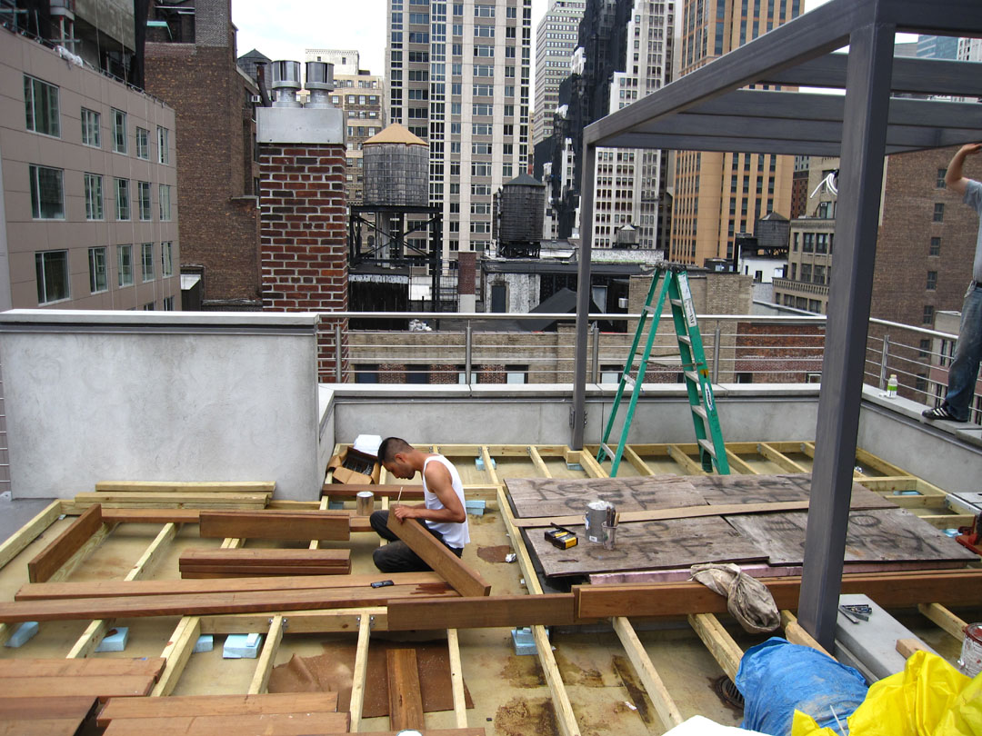 Building a roof garden in New York City